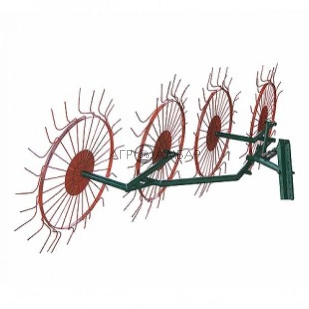 Грабли-ворошилки Солнышко 4-х колесные (AGROLUXE, оцинкованные, 5 мм)