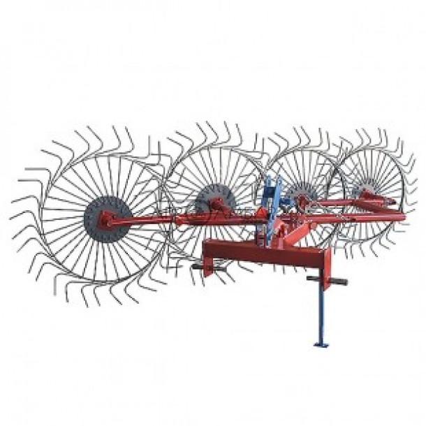 Грабли-ворошилки Солнышко 4-х колесные (Украина-Польша, трехточечное крепление, 6 мм)