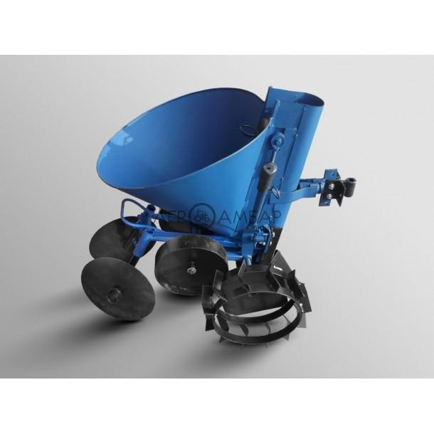 Картофелесажалка (ленточная, 20 л) с транспортировочными колесами (ШИП)