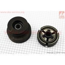 Шкив-муфта сцепления вариаторного типа (D=102 мм под коленвал Ø 19мм, под два паза ремень SPA или SPB) (168F/170F)