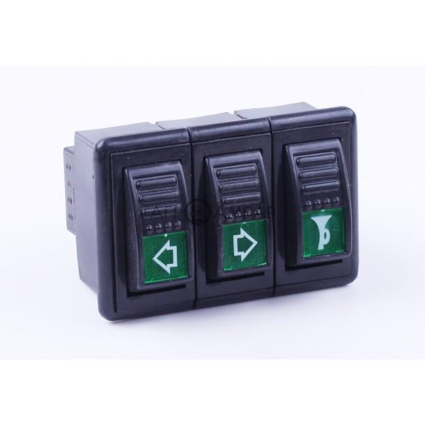 Блок переключателей (2 позиции) (DongFeng 244/240) ( JK938A )
