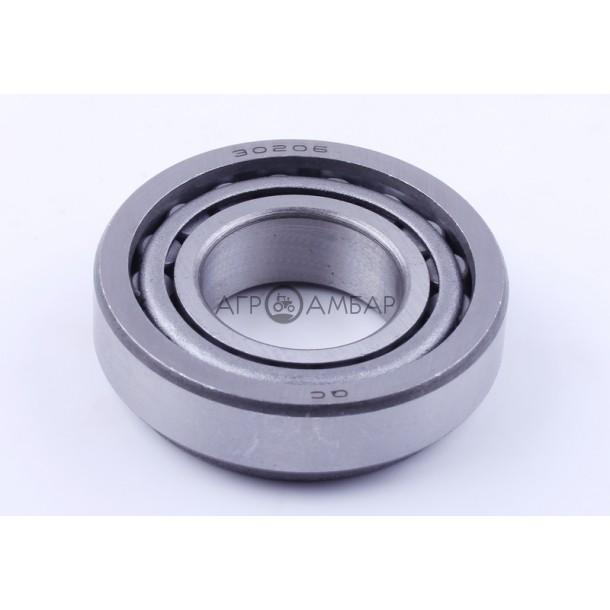 Подшипник колеса переднего 30206 (внутренний) (мототрактор)