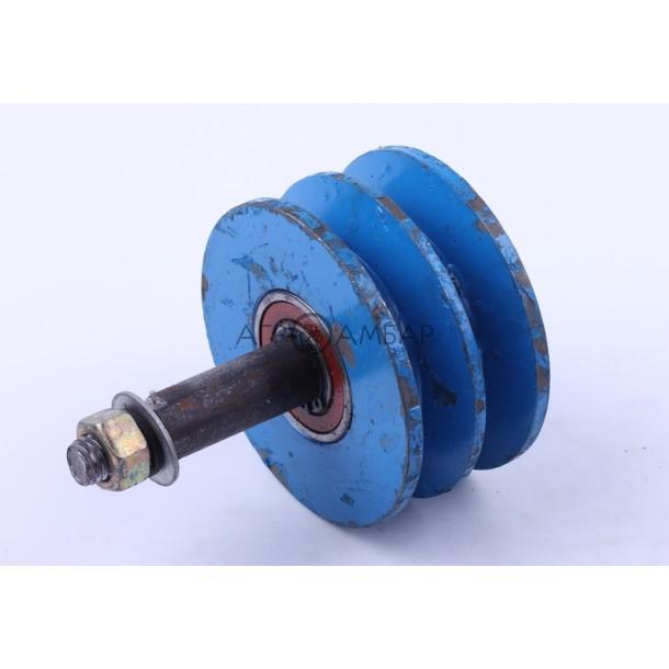 Ролик натяжителя ремня (2-х ручейковый) (мототрактор)