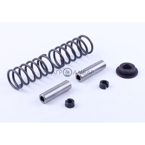 Клапанный механизм комплект (пружины, тарелки, сухари, направляющие) на 2 кл. (R175/R180)