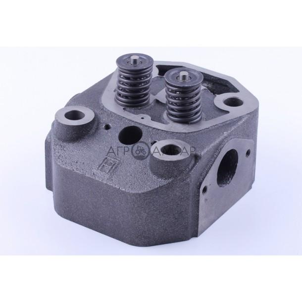 Головка цилиндра (в сборе) на мототрактор (ZUBR orig.) под форсунку Ø21mm (R195)