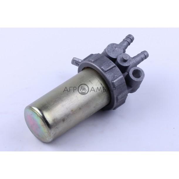 Кран топливный (стакан железный) (ZUBR original) (R175/R180/R190/R195)